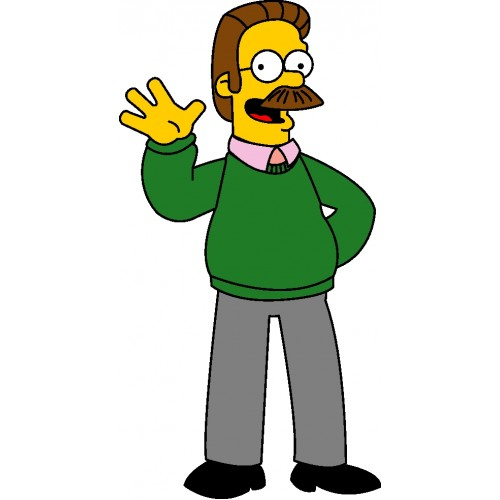 Ned Flanders Cartoon Vector-500x500